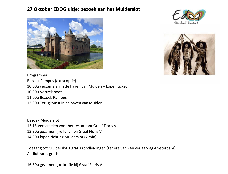 27 Oktober EDOG uitje