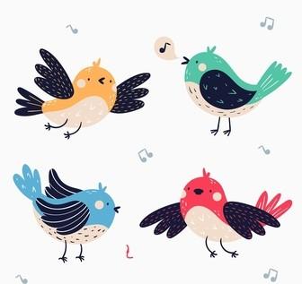 zingende vogeltjes